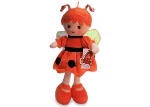 Мягкая кукла пчелка в рыжем платье муз.