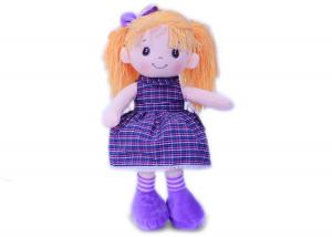 Мягкая кукла Светка платье в клетку муз.