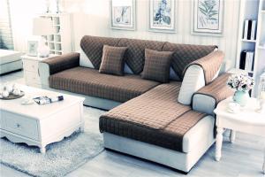 Накидка на диван и 2 кресла мех шиншилла кубик кофе
