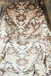 Плед флисовый Цветы светлые