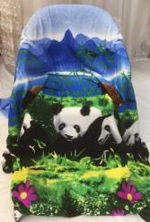 Плед флисовый Панда