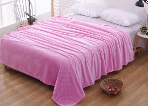 Плед флисовый цветной бледно-розовый