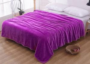 Плед флисовый цветной Фиолетовый