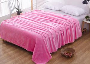 Плед флисовый цветной Розовый