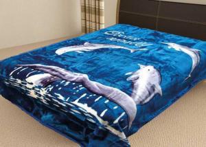 Плед Tamerlan ворсовой корал-флис Дельфины