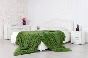 Плед-травка с длинным ворсом Зеленый