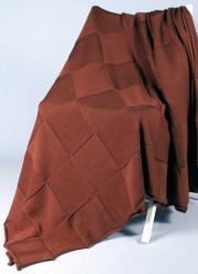 Плед вязаный Valtery Квадрат (т. коричневый)