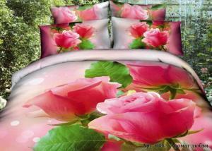 Постельное белье сатин 3D Diva Afrodita Premium 008-Аромат любви