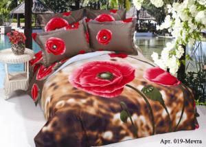 Постельное белье сатин 3D Diva Afrodita Premium 019-Мечта