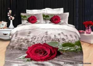 Постельное белье сатин 3D Diva Afrodita Premium 025-Великолепие