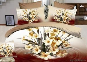 Постельное белье сатин 3D Diva Afrodita Premium 036-Латте