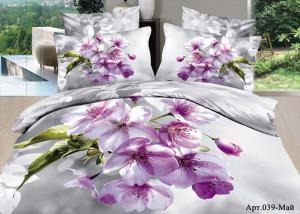 Постельное белье сатин 3D Diva Afrodita Premium 039-Май