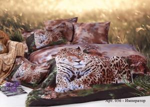 Постельное белье сатин 3D Diva Afrodita Premium 056-Император