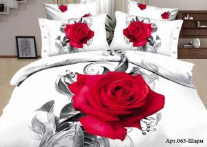 Постельное белье сатин 3D Diva Afrodita Premium 065-Шарм