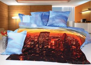 Постельное белье сатин 3D Diva Afrodita Premium 071-Нью-Йорк