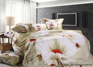 Постельное белье сатин 3D Diva Afrodita Premium 082-Музыка цветов